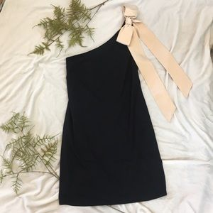 Laundry Black Mini Dress with Bow Detail